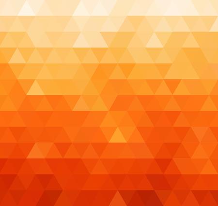 幾何学的なモザイクの背景の色を抽象化します。オレンジ色の三角形