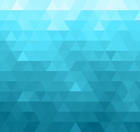 Abstract geometric template background. Blue triangles pattern Vettoriali