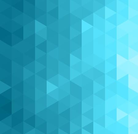 抽象的な幾何学的テンプレート背景。青い三角形のパターン