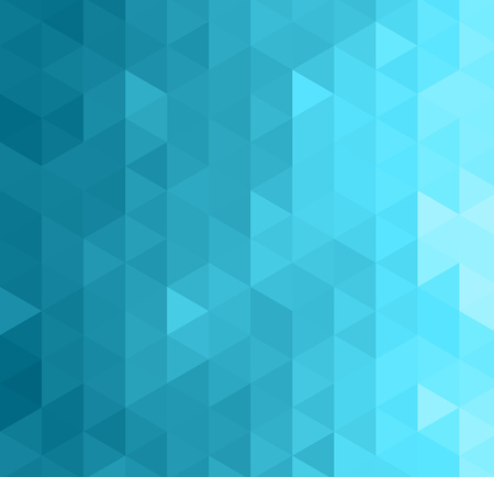 Abstract geometric template background. Blue triangles pattern Illustration