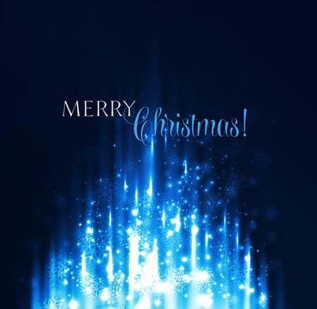azul: Resumen ilustración de fondo de Navidad. mágica luz azul Vectores
