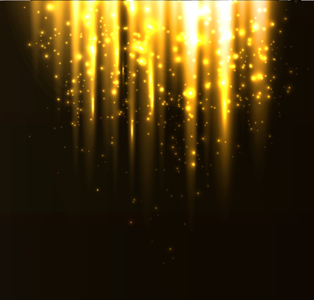 abstract wallpaper: illustration Abstract colorful background. Gold magic light