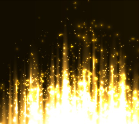 colorful abstract background: illustration Abstract colorful background. Gold magic light
