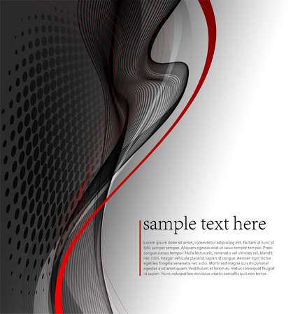 red wave: illustration Abstract wave background. Illustration