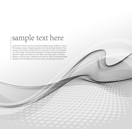 grey background: Vector illustration Abstract wave background. Illustration