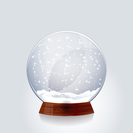 snow: Christmas transparent snow globe.