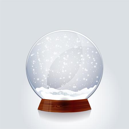 sapin neige: Noël globe de neige transparent.