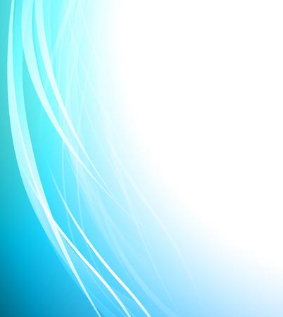抽象的なブルー ビジネス技術のカラフルな波背景