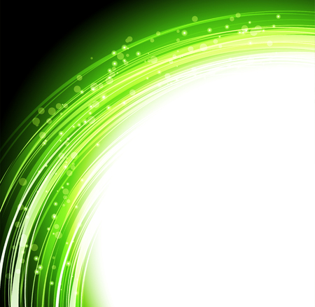 illustration Abstract colorful background. Green transparent lines