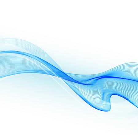ブルー ウェーブと抽象的なカラフルな背景を図