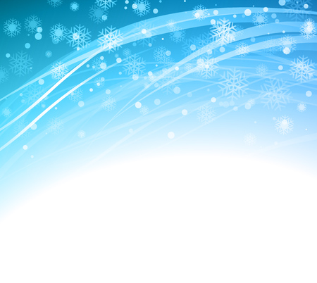 snow: Christmas blue background with snowflakes.