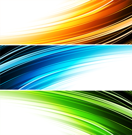 banners web: illustration Abstract colorful background. Set color banner
