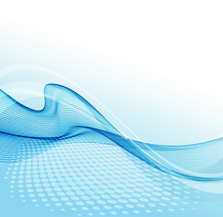 illustration Abstract colorful background with blue wave 일러스트