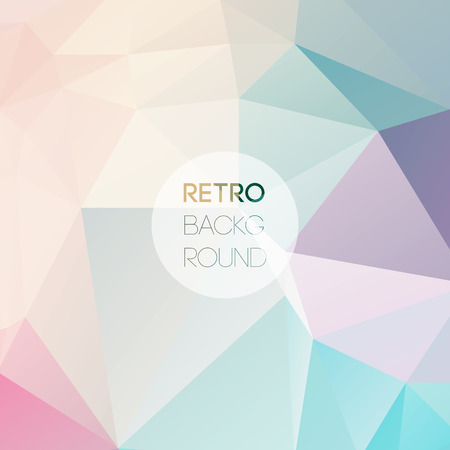 Geometric triangular light background with place for your text. Vector Retro triangle background. Color Low poly 일러스트