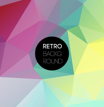 Geometrische driehoekige lichte achtergrond met plaats voor uw tekst. Vector Retro driehoek achtergrond. Kleur Low poly