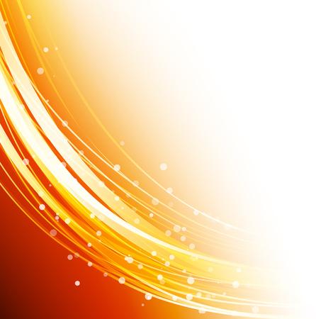 Résumé de fond vague vecteur, orange agita lignes pour la brochure de conception, site web, dépliant Banque d'images - 54424287