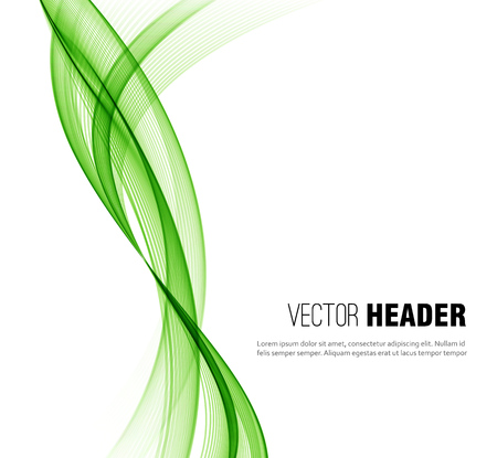 abstract waves: Abstract vector wave background, green waved lines for design brochure, website