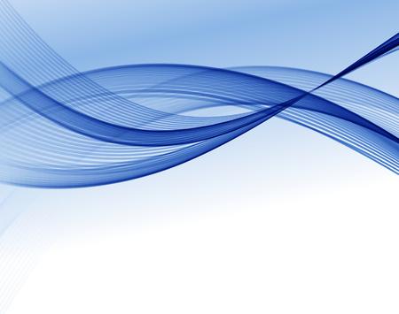 パンフレットのデザイン、ベクトル波背景、青手を振ってラインを抽象的なウェブサイト  イラスト・ベクター素材