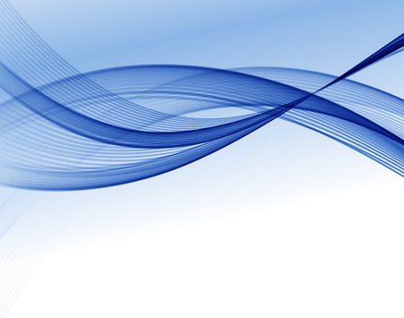 Abstract vector wave background, blue waved lines for design brochure, website