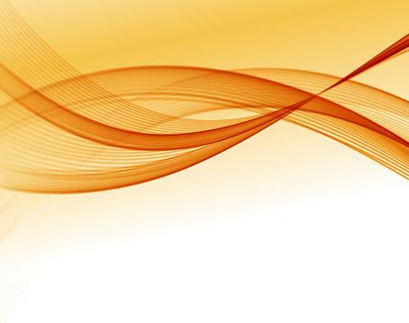 orange background abstract: Abstract vector wave background, orange waved lines for design brochure, website Illustration