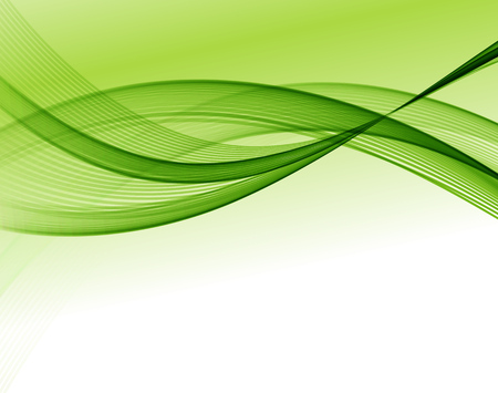 Abstract vector wave background, green waved lines for design brochure, website