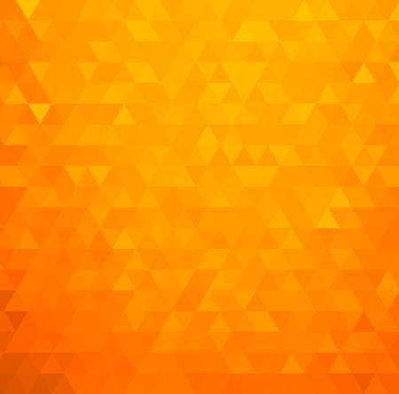 パンフレットのデザイン、web サイトやチラシのベクトル抽象的なオレンジ色モザイクの背景