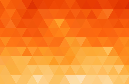 illustration background: Vector Abstract orange color mosaic background for design brochure, website, flyer