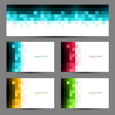 green yellow: Vector Abstract color mosaic banners. Blue, red, green, yellow color