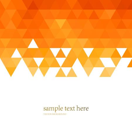 Vector Abstract orange mosaïque de fond pour la brochure de conception, site web, dépliant Banque d'images - 54508803