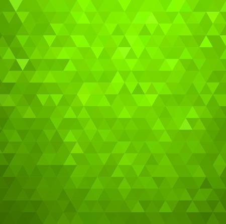 デザイン パンフレット、ウェブサイト、フライヤーのベクトル抽象緑色モザイクの背景  イラスト・ベクター素材