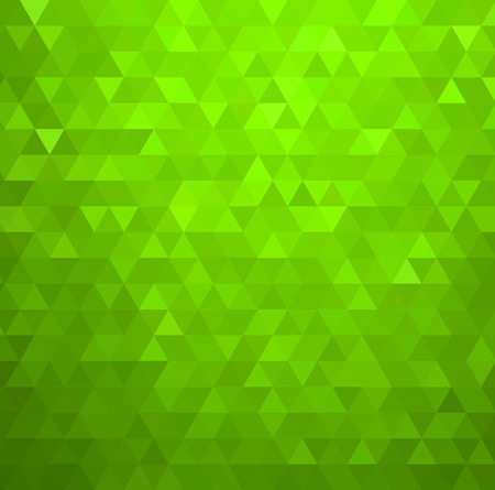 Vector Abstract green color mosaic background for design brochure, website, flyer Illustration