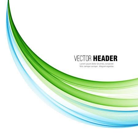 抽象的な青と緑の波線。 カラフルなベクトルの背景  イラスト・ベクター素材