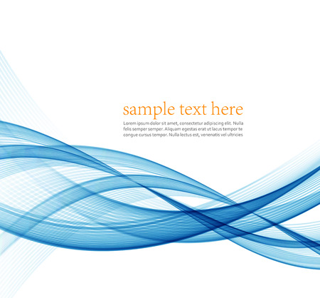 lineas onduladas: Abstract blue wavy lines.  Colorful vector background