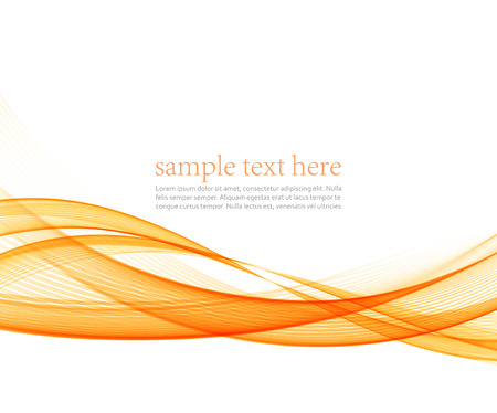 Abstract motion smooth color wave vector. Curve orange lines Illustration