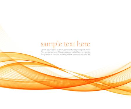 Resumen de movimiento suave del vector de onda de color. líneas naranjas curva Ilustración de vector