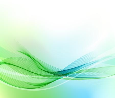 Résumé bleu et des lignes ondulées verts. Colorful vecteur de fond Banque d'images - 56026394