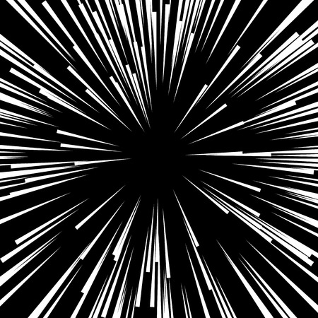 Comic Radial Speed Lines. Graphic Explosion with Speed Lines. Ilustração