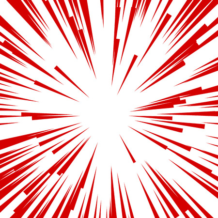 Comic Radial Speed Lines. Graphic Explosion with Speed Lines. Illustration