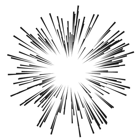 Comic Radial Speed Lines. Graphic Explosion with Speed Lines. 일러스트