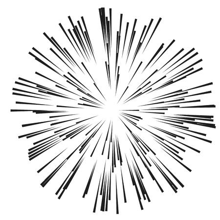 コミックの放射状の速度ライン。スピード ラインのグラフィック爆発。