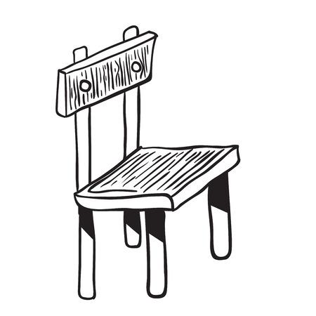 chair wooden: wooden chair doodle cartoon