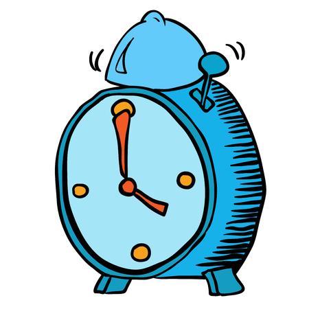 clock cartoon: alarm clock cartoon doodle Illustration