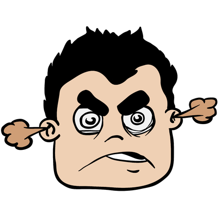 angry boy: angry boy cartoon illustration