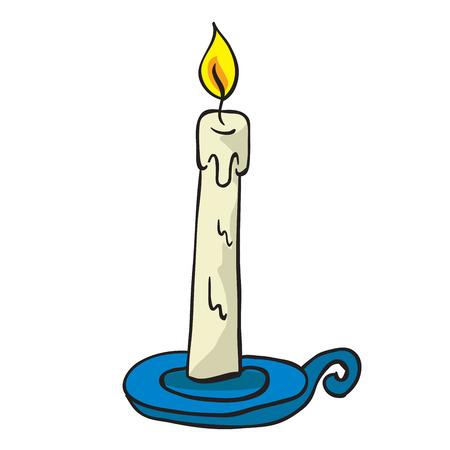 lit: lit candle cartoon doodle Illustration