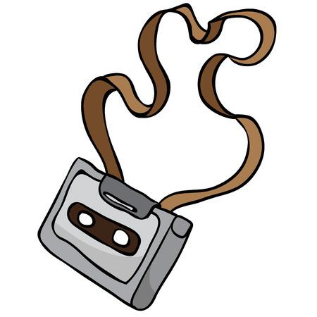 remix: tangled audio cassette cartoon doodle