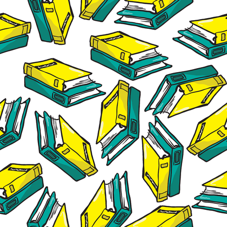 bookbinding: books seamless pattern Illustration