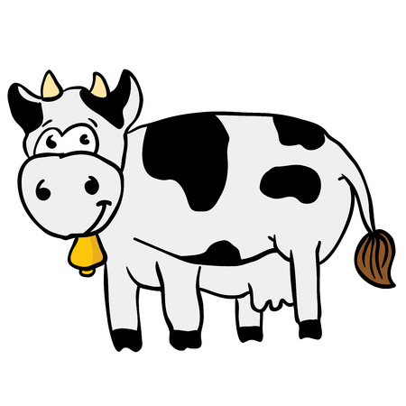 cow cartoon illustration