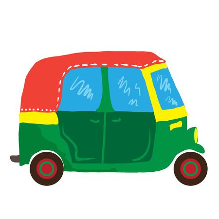 mini van: cute mini van cartoon illustration Illustration