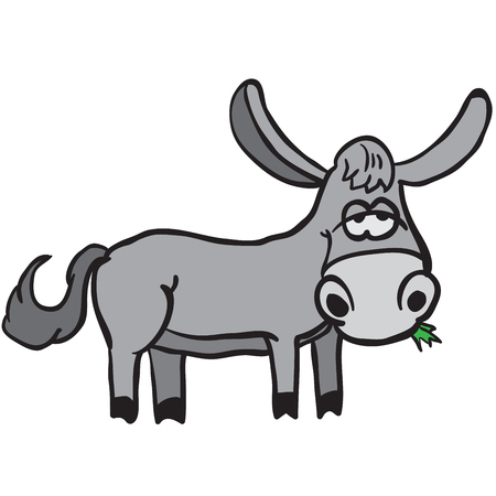 jackass: donkey cartoon illustration