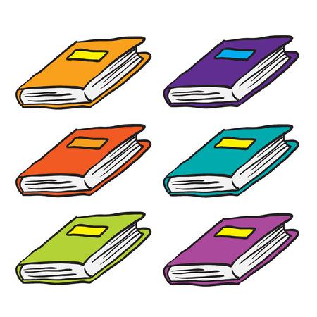 books cartoon doodle isolated on white